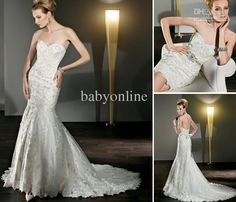 Sexy Mermaid Wedding Dresses with Detachable Train Beaded Belt Little Bridal Gown