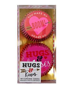 Hugs and kisses cupcake cases #cupcake #valentine