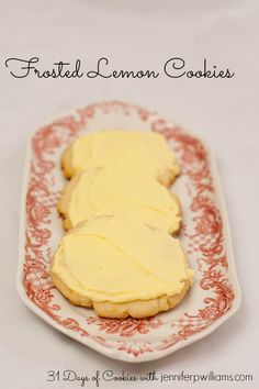 Frosted Lemon Cookies Recipe ~ They are sweet, delicate, and fresh tasting. If you like lemon you will love these cookies.