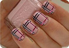 Burberry nails designs.