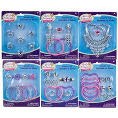 Just Pretending Plastic Jewelry Assortements (Set of 6)