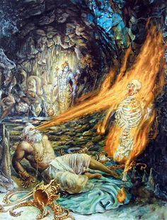 Sage Muchukunda burns Kalyavana