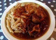 Pasta med oksehale Spaghetti, Pasta, Ethnic Recipes, Food, Eten, Noodles, Meals, Noodle, Pasta Dishes