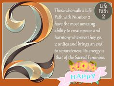 Life Path, or destiny number 2 is a very socially and emotionally intelligent path. Life Path Number, Sacred Feminine, Life Challenges, Peace And Harmony, Number 2, Numerology, Introvert, Law Of Attraction, Paths