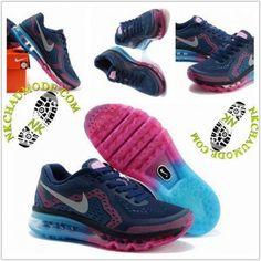 separation shoes dcdf3 247b2 Mode   Nike Chaussure Sport Air Max 2014 Femme Pourpre Bleu Rose