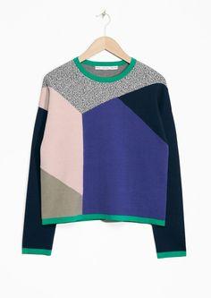 Colour Blocked Sweater | Multi colour