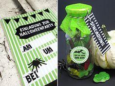 Eklige Einladung für deine Halloween-Party in der Flasche Halloween Party, Advent Calendar, Buffet, Diy Crafts, Christmas, Wrap Gifts, Diy Presents, Invitations Kids, Xmas