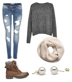 """""""Fall casual"""" by brenna-mccarty on Polyvore featuring beauty, French Connection, H&M and Steve Madden"""