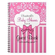 Pink Baby Shower Guest Book- Journal