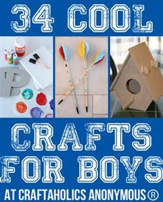 34 Cool Crafts for Boys. Lol Im sure a girl would like this just as much.