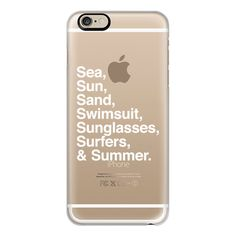 iPhone 6 Plus/6/5/5s/5c Case - Sea Sun Sand Swimsuit Sunglasses... ($40) ❤ liked on Polyvore featuring accessories, tech accessories, phone, phone cases, iphone, electronics, iphone case, iphone cases, apple iphone 6 case and iphone 6 case
