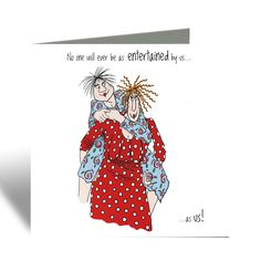 Entertained by us Card - Camilla & Rose Blank Greeting Card, Humorous Birthday Card, Cards For Friends, Best Friend Card Funny Cards For Friends, Friends Are Like, Camilla Rose, Personalized Thank You Cards, Funny Birthday Cards, Watercolor Cards, Pet Gifts, Your Cards, Christmas Cards