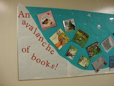 library bulletin board idea-winter