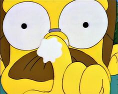 Ned Flanders- Want me to zinc your sniffer?
