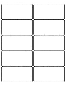 "4"" x 2"" Label Template - Microsoft Word compatible and more."