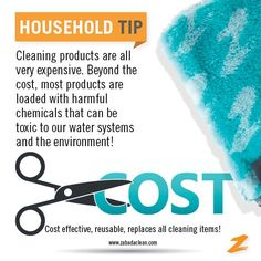 So many reasons by Zabada is the BEST! Save money while cleaning the safe and healthy way!