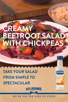 Try this exciting, creamy beetroot salad recipe. It's quick, easy and makes great use of all of the beetroot. Have you tried beetroot stalks and leaves before? They taste awesome and are too good to throw away. Homemade in less than 30 min, colourful, juicy and made super-creamy with new Hellmann's Honey mustard Salad Dressing. Impressive!