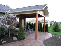 how to build a gable roof patio cover - Google Search