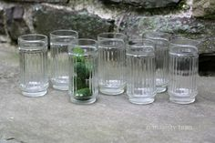 Qty 7 Pressed Glass Tumblers. Vintage. by NorthMajestyTrail