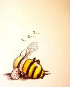 I love bees and everything they do. - I love bees and everything they do . - I love bees and everything they do. – I love bees and everything they do. Art Et Illustration, Illustrations, I Love Bees, Bee Art, Bee Happy, Bees Knees, Art Drawings, Artsy, Sketches