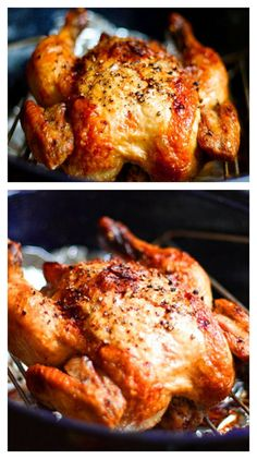 Roasted Chicken Crispy Roasted Garlic Chicken ~ Learn how to make your own roast chicken. It is SO easy.Crispy Roasted Garlic Chicken ~ Learn how to make your own roast chicken. It is SO easy. Turkey Dishes, Turkey Recipes, Dinner Recipes, Breakfast Recipes, Dessert Recipes, Crispy Roasted Chicken, Roasted Garlic, Whole Roasted Chicken, Garlic Minced