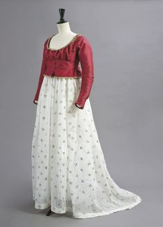 Jacket and petticoat ca. 1790s (I'd say this is a dress underneath, not just a petticoat).