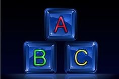 Hi-tech plastic alphabet blocks on black background Stock Photo - 4033263 Alphabet Blocks, Black Backgrounds, Clock, Tech, Plastic, Information, Stock Photos, Date, Articles