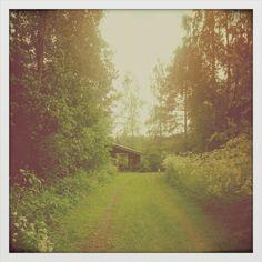 Mökki, green, road, tie, mummu, granny, childhood, lapsuus <3