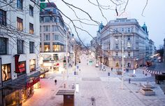 """""""Hardly any project has divided the inhabitants of the Austrian city of Vienna as much as the redevelopment of their beloved shopping street Mariahilferstrasse by Bureau B+B. Contemporary Landscape, Urban Landscape, Landscape And Urbanism, Public Realm, Shopping Street, Urban Planning, City Streets, Urban Design, Architecture Design"""