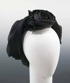 Cocktail hat | Cristóbal Balenciaga (Spanish, 1895-1972) | Date: ca. 1965 | Material: silk | The Metropolitan Museum of Art, New York