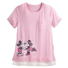 Mickey and Minnie Mouse Sweetheart Top for Women