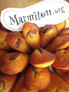 Madeleines au coeur de nutella : Recette de Madeleines au coeur de nutella - Marmiton