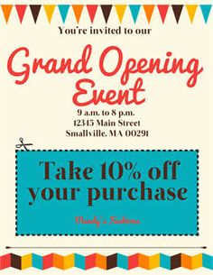 grand opening/on sale poster …