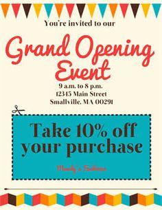 Bakery grand opening poster ellie s bakery pinterest grand