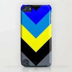 V-lines Blue style iPod Touch 5th gen. Case by RobozCapoz - $35.00