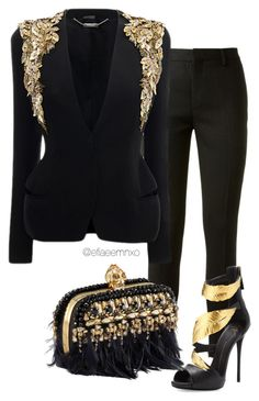 """Digging for gold"" by efiaeemnxo ❤ liked on Polyvore featuring Yves Saint Laurent, Alexander McQueen, Giuseppe Zanotti, blackandgold, AlexanderMcQueen, GiuseppeZanotti, sbemnxo and styledbyemnxo"