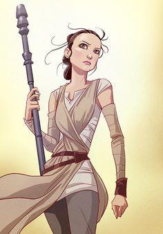DeviantArt tumblr — thehappysorceress:   Rey by Edward Pun   ...