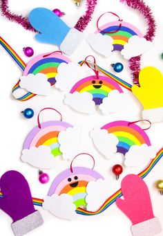 DIY Cute Rainbow Orn