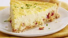 """This quiche filling is like liquid satin--it's just so rich and creamy, not at all """"eggy tasting."""" The original recipe used a dash of nutmeg instead of the cayenne pepper, feel free to give it try!"""