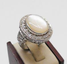 925er+Silberring+mit+weißem+Achat+17,2+mm+SR421+von+Atelier+Regina++auf+DaWanda.com