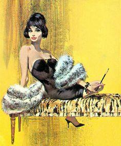 Robert McGinnis (via Vintage Smokers: Pin Up and Cartoon Girls) Robert Mcginnis, Pulp Fiction Art, Pulp Art, Original Paintings For Sale, Original Art, Cincinnati, Pin Up Art, Mellow Yellow, Girl Cartoon