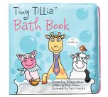 """Who doesn't like to read in the bath? The Tiny Tillia bath book brings fun and learning to the tub. Waterproof and easy to wipe dry, the 5"""" x 5"""" bath book goes perfect with bubbles. Made of man-made materials"""