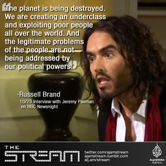 English actor and comedian Russell Brand's interview on BBC went viral after his strong criticism of the global #political and #economic system.