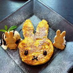 ミッフィーのパンケーキです(^O^)