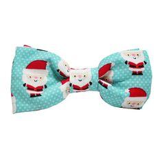 Dog Bow Tie Santa Baby Blue   Classic Hound Collar Co.