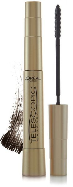 L'oreal Telescopic Mascara in Blackest Black -- for lengthening, this is the best drugstore option I've found.
