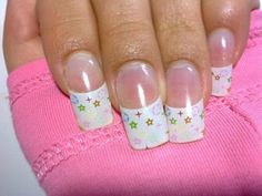 dried flowers in acrylic nails - Google Search
