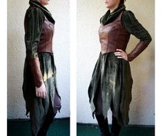 The Hobbit costume Tauriel Bodice & Bracers by VoltoNero on Etsy