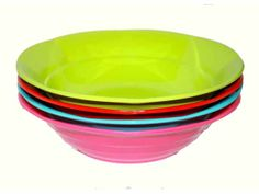 RICE Melamine Bowl - These bowls are perfect for picnics and outdoor living and come in a great selection of bright colours. RICE products are very robust and long lasting making them a great investment if you love your picnics, camping or outside living. Dimensions: H5.5cm xD18cm http://www.tinderandtide.co.uk/product.php?cid=398&pid=321