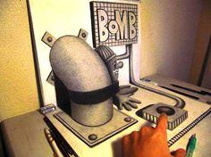Bomb Realistic 3D Drawing
